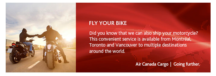 Air Canada's new motorcycle cargo options
